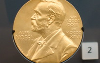Nobel prize for Higgs Boson, Scottish National Museum - V.Brodský